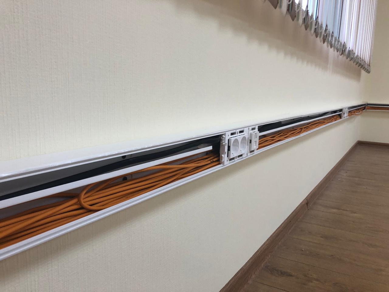 Прокладка магистрального и горизонтального кабель-канала и кабелей СКС